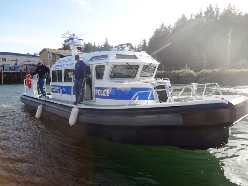 Police Boat powered by John Deere