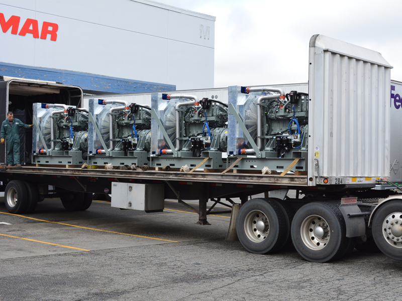 A load of ABS Marine Auxiliary Units powered by John Deere
